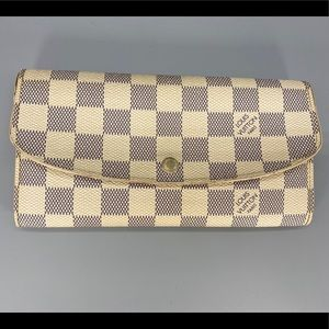 Louis Vuitton Emily Damier Azur Wallet